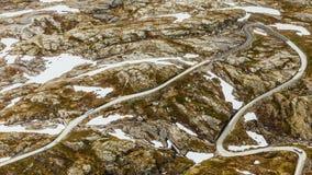 Road to Dalsnibba mountain, Norway Stock Photos