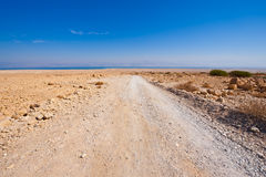 Road to Dead Sea Royalty Free Stock Photography