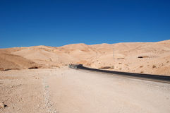 On the road to the Dead Sea, Jordan, Middle East Royalty Free Stock Photo