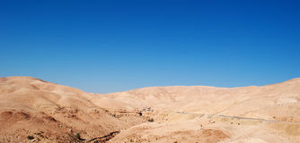 On the road to the Dead Sea, Jordan, Middle East Stock Images