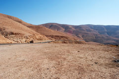 On the road to the Dead Sea, Jordan, Middle East Royalty Free Stock Images