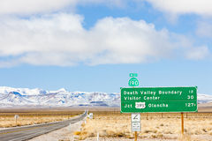 Road to Death Valley. In California, USA Stock Images