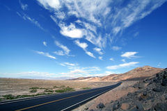 Road to Death Valley Royalty Free Stock Image