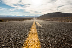 The road to Death Valley National Park Royalty Free Stock Photos