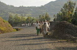 Road to Debark, Northern Ethiopia Stock Photos