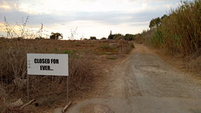 Road to demilitarized zone on Cyprus Stock Photography