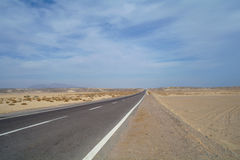 Road to  desert. Royalty Free Stock Photography