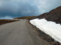 The road to eagle alaska in the springtime Royalty Free Stock Images