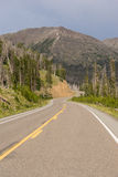 Road to East Entrance Yellowstone National Park Avalanche Peak Stock Photography