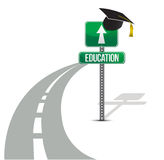 Road to education illustration design Stock Photos