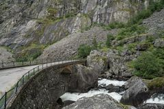 The Road to Eidfjord. In Norway Stock Image