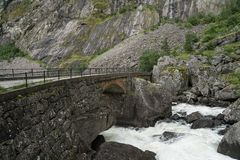 The Road to Eidfjord. In Norway Royalty Free Stock Images