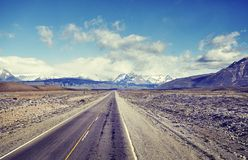 Road to El Chalten, Argentina. Stock Photography