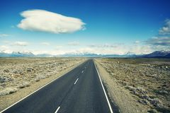 Road to the El Chalten, Argentina. Royalty Free Stock Photos