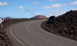 The Road to El Golfo, Lanzarote Stock Photo