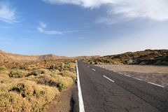 Road to El Teide. Stock Photo