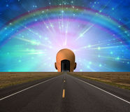 Road to enlightenment Stock Images