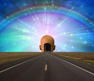 Road to enlightenment stock illustration
