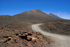 The road to Etna Royalty Free Stock Image