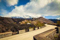 The road to Etna Stock Photography