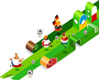 Road to Euro 2012 Poland Ukraine. Vector Illustration Royalty Free Stock Image
