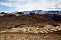 Road to Everest. The winding road to Everest Royalty Free Stock Image