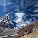 Road to Everest Base camp in Sagarmatha National Park, Nepal Royalty Free Stock Photo