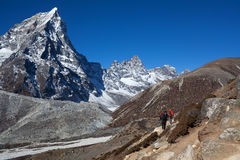 Road to Everest Base camp in Sagarmatha National Park, Nepal Royalty Free Stock Images