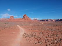 Road to the exploration, desert in the west of usa royalty free stock image