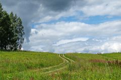 Road to a field Royalty Free Stock Photos