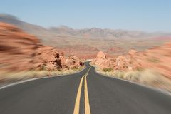 Road to Fire Royalty Free Stock Photography