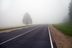 Road to a fog Royalty Free Stock Photo