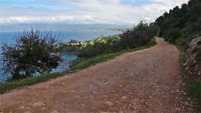 Road to Fontana Amoroza, Akamas Peninsula National Park, Cyprus. stock video