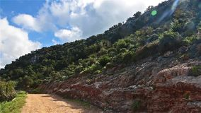 Road to Fontana Amoroza, Akamas Peninsula National Park, Cyprus. stock video footage