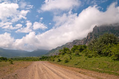 Road to foothills Dimerdzhi, Crimea Royalty Free Stock Image