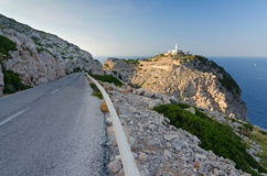Road to Formentor lighthouse Royalty Free Stock Image
