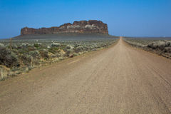 Road to Fort Rock Royalty Free Stock Image