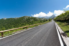 Road to the freedom. A road in the Picos de Europa, Asturias (Spain Stock Photos
