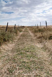 Road to the freedom. A path in the country in Segovia (Spain Royalty Free Stock Image