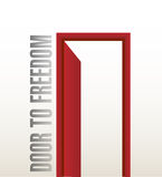 Road to freedom illustration design Royalty Free Stock Photo