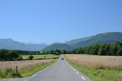 The road to the French Pyrenees Stock Image