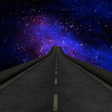 Road to galaxy Stock Image