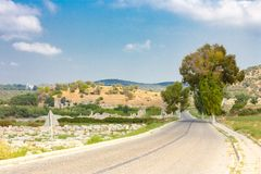 Road to the gate of Patara Royalty Free Stock Photography