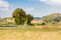 Road to the gate of Patara Stock Images