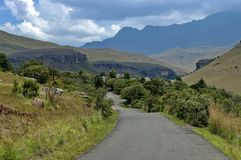 Road to Giants Castle KwaZulu-Natal nature reserve, Drakensberg South Africa Stock Photo