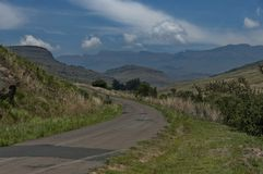 Road to Giants Castle KwaZulu-Natal nature reserve Royalty Free Stock Images