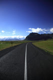 Road to the Glacier. On a clear day Royalty Free Stock Images