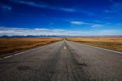Road To Glacier. Highway to Glacier National Park, Montana Royalty Free Stock Photo