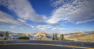 Road to Glacier Point in Yosemite National Park. Stock Images