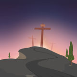 Road to Golgotha Royalty Free Stock Image